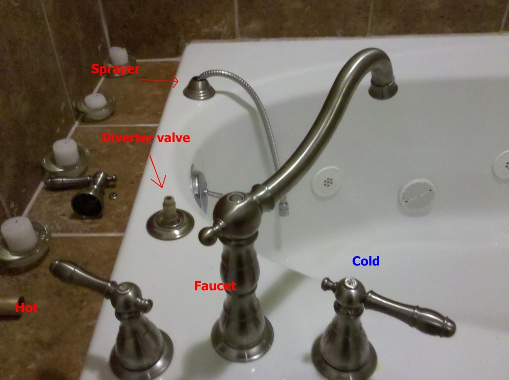 At my wit\'s end with tub\'s faucet/sprayer diverter valve ...